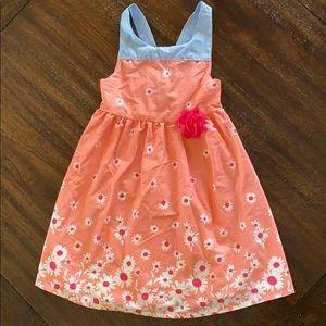 Girls summer dress (Peach/pink)
